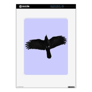 Flying Black Raven Corvid Crow-lover Photo Design iPad Decal