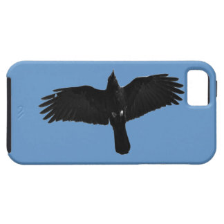 Flying Black Raven Corvid Crow-lover Photo Design iPhone SE/5/5s Case