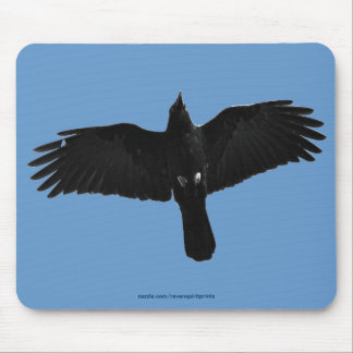 Flying Black Raven Corvid Crow-lover Photo Design Mousepads