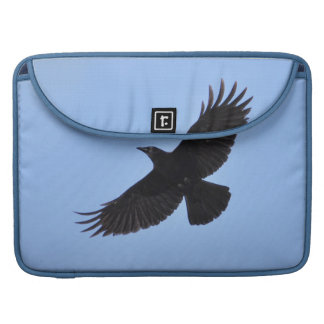 Flying Black Raven Corvid Crow-lover Photo Design Sleeve For MacBook Pro