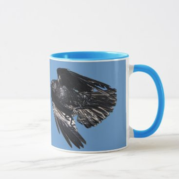 Halloween Themed Flying Black Raven Crow-lover Photo Design 7 Mug