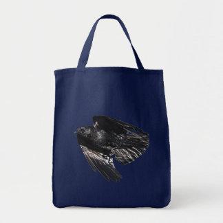 Flying Black Raven Crow-lover Photo Design 7 Tote Bag