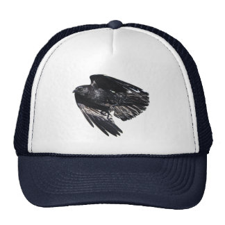Flying Black Raven Crow-lover Photo Design 7 Trucker Hat