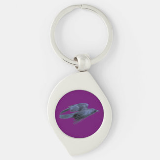 Flying Black Raven Gothic, Celtic, Wiccan Keychain