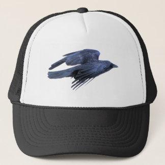 Flying Black Raven Gothic, Celtic, Wiccan Trucker Hat