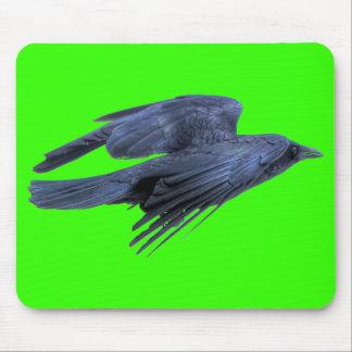 Flying Black Raven Gothic, Celtic, Wildlife Mouse Pad