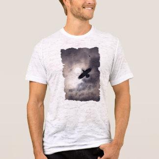 Flying Black Raven & Sun Clouds Birdlover Shirt