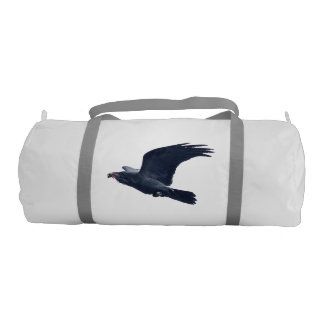 Flying Black Raven Wildlife Image II Duffle Bag
