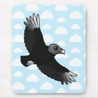 Flying Black Vulture Mouse Pad
