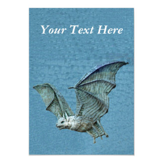 Flying Blue 3D Spooky Gothic Bat Magnetic Card