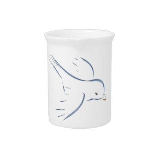 Flying blue bird original drawing pitchers
