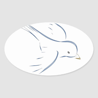 Flying blue bird original drawing stickers