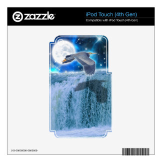 Flying Blue Heron Wildlife Fantasy Gift Design Decal For iPod Touch 4G
