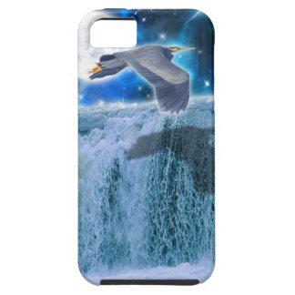Flying Blue Heron Wildlife Fantasy Gift Design iPhone SE/5/5s Case