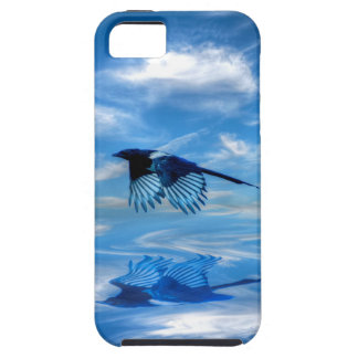 Flying Blue Magpie & Reflected Sky iPhone SE/5/5s Case