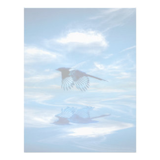 Flying Blue Magpie & Reflected Sky Letterhead