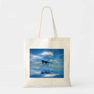 Flying Blue Magpie & Reflected Sky Tote Bag