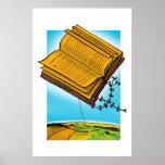 Flying Book Kite Print