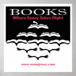 Flying Books Print