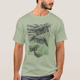 Flying Boombox Mens T-shirt