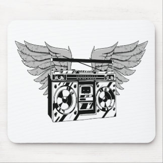 Flying Boombox Mouse Pad