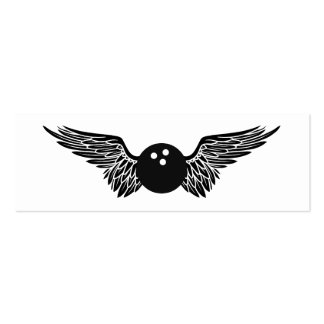 flying bowling ball Double-Sided mini business cards (Pack of 20)
