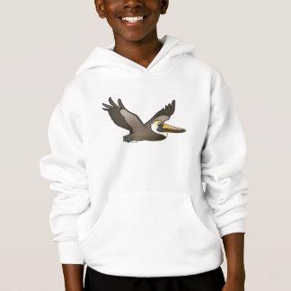Flying Brown Pelican Hoodie