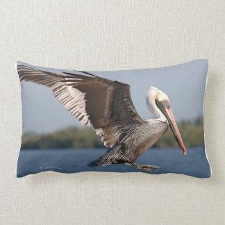 Flying brown pelican MoJo Pillow