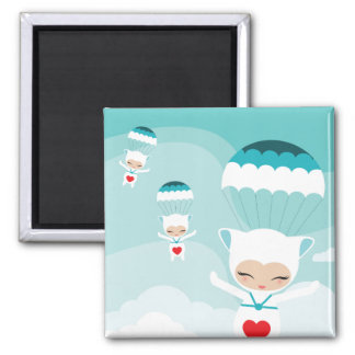 flying bubillinas 2 inch square magnet