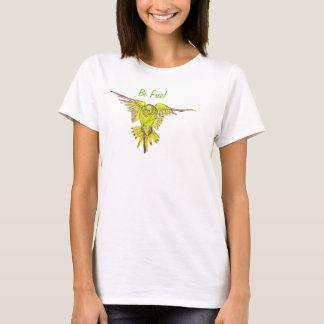 Flying Budgie Australian Bird Be Free T-Shirt