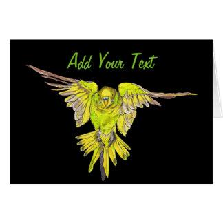 Flying Budgie Australian Bird Card