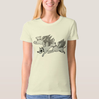 Flying Bull Terriers T-shirts