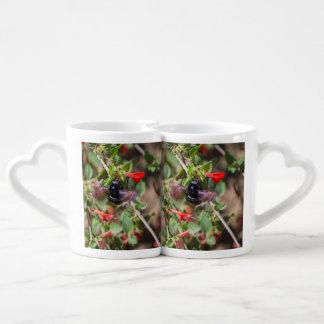 Flying Bumblebee Couples Coffee Mug