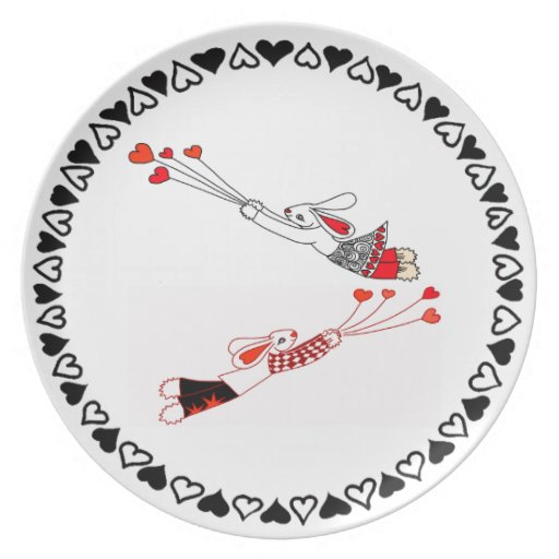 Flying Bunnies Party Plate