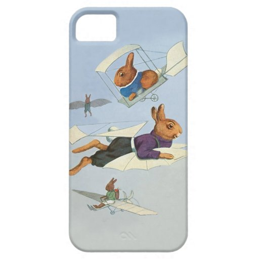 Flying Bunny Rabbits - Cute Funny Vintage iPhone 5 Covers