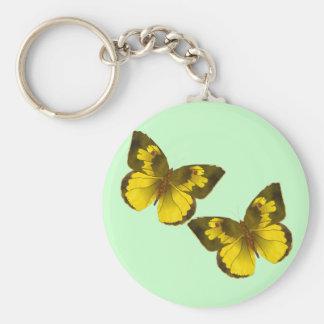Flying Butterflies Basic Round Button Keychain