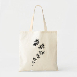 flying butterflies budget tote bag