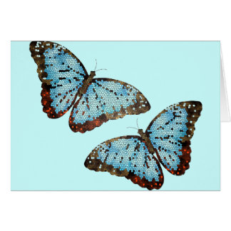 Flying Butterflies Card