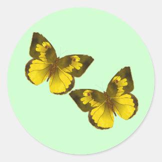 Flying Butterflies Classic Round Sticker