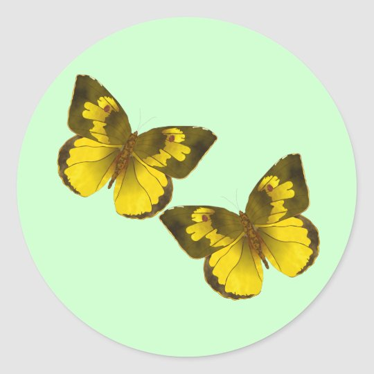 Flying Butterflies Classic Round Sticker