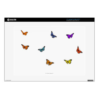 "Flying butterflies decals for 15"" laptops"