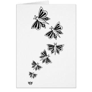flying butterflies greeting card