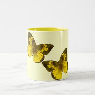 Flying Butterflies Two-Tone Coffee Mug