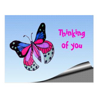 Flying Butterfly Postcard