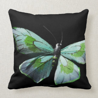 Flying butterfly throw pillow