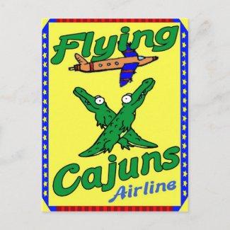 Flying Cajuns postcard