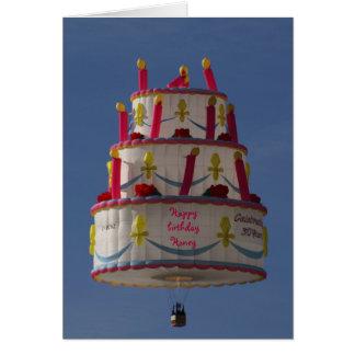 flying cake card