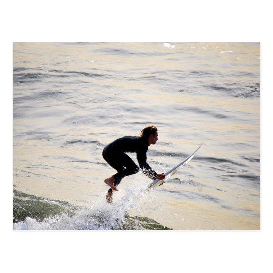 """Flying"" California Surfer Postcard"