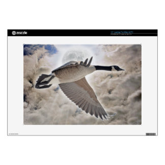 Flying Canada Goose & Clouds Photo Decals For Laptops