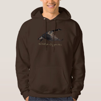 Flying Canada Goose Wildlife Supporter Hoodie